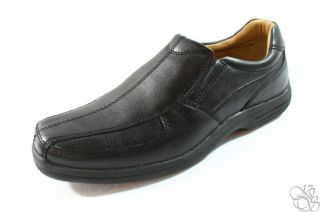 Johnston Murphy Cammon Sgore Black Slip on Loafers Mens Shoes New Size