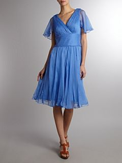 JS Collections Bodice cap sleeve dress Light Blue