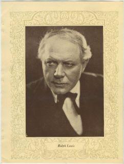Ralph Lewis Vintage 1923 Mpda Popular Film Folk 8 x 10 75 Printed