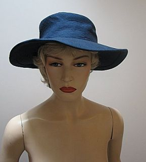 VNG Ladies Navy Blue Hat Bergdorf Goodman Made to Order