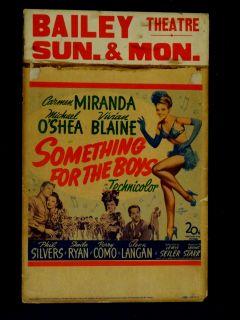 Something for The Boys 1944 11x22 Window Card Carmen Miranda Comedy