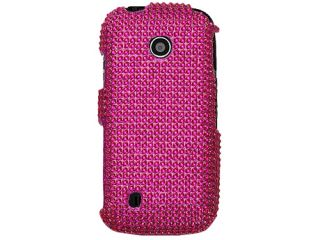 Pink Bling Rhinestone Case Cover LG Cosmos Touch VN270