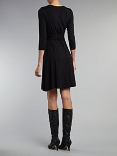 Lauren by Ralph Lauren Kaydence jersey wrap dress Black