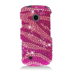 Touch Pink Zebra Diamond Crystal Bling Case Mobile Phone Cover