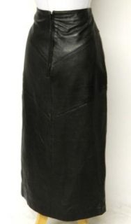Lew Magram Size 10 M Black Buttery Soft Leather Skirt High Waist