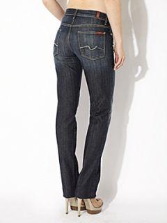 7 For All Mankind High waist straight leg jeans in New York Dark Denim Mid Wash