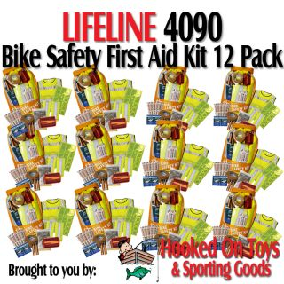 Lifeline 4090 12pk Bike Safety First Aid Kit 17pc High Visibility Road