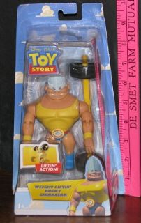 Disney Pixar Toy Story Weight Liftin Rocky Gibraltar Liftin Action