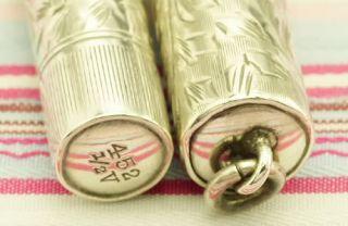Vintage Waterman Ideal Sterling Silver Overlay 452 1 2V Etched Vine
