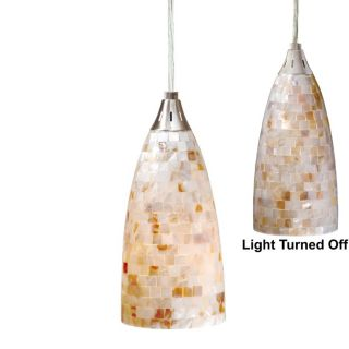 NEW Mini Pendant Lighting Fixture OR Track Light, Satin Nickel, Mosaic