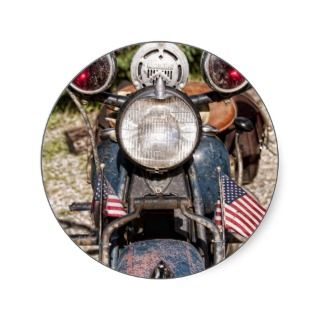old Indian Harley Davidson Police Motorcycle Stickers