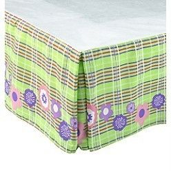 disney dream collections bed skirt cinderella royal horses lime green