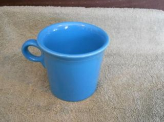 Homer Laughlin Fiesta Ware Blue Peacock Light House Coffee Cup Mug USA