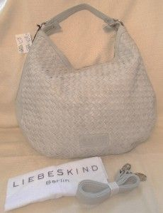 Liebeskind Berlin $358 Leather Mandy Woven Handbag White Cross Body