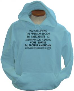 Checkpoint Charlie WW2 USA Military Army Hoodie