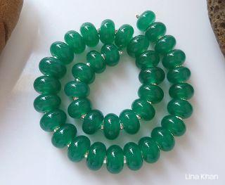 Lina Khan Lampwork Beads Jade Green 37MINI