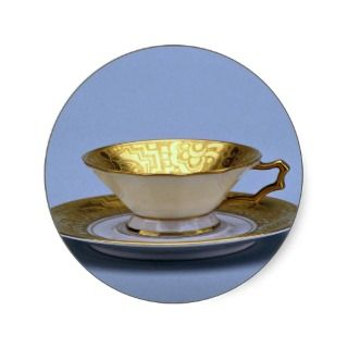 20th century tea cup and saucer, Bavaria, Germany Stickers