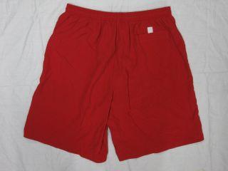 Lifeguard Nylon Red Swim 3 Pocket Trunk New Men x Large