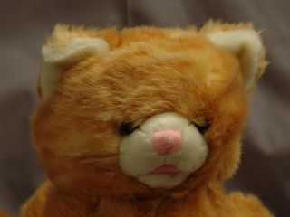 Lifelike Animal Alley Orange Tiger Tabby Cat Striped Puppet Plush Toy