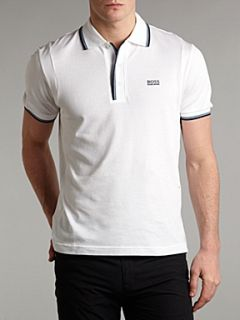 Hugo Boss Button collar polo shirt White