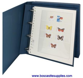 Lindner Stamp Album Eco Slip Case 4 Ring Binder Blue