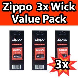 Zippo Lighter Wick Genuine Value Pack Economy 3 Pack Set Wicks New