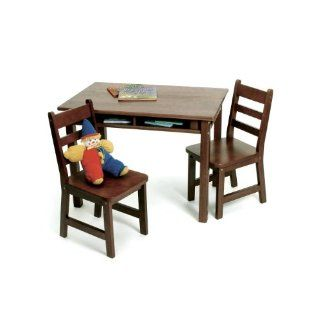 Lipper International 534W Childs Rectangular Table and 2 Chair Set