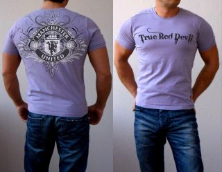 New Manchester United T Shirt Football Graphic Tattoo Slim Fit Man UTD