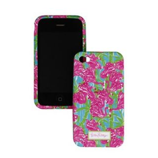 Lilly Pulitzer iPhone 4 4S Fan Dance Mobile Cell Phone Cover Pink