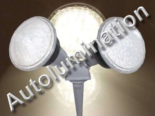 120 LED Floodlight Par 38 Dual Stake Light 220 240 Volt