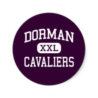 Dorman   Cavaliers   High   Roebuck South Carolina Round Sticker