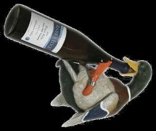 Duck Wine Liquor Bottle Holder Hand Painted New