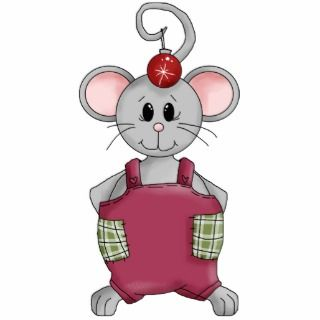 Merry Christmas Mouse Glass Star Ornament Photo Cut Outs