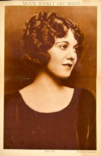 1922 Rotogravure Portrait Lila Lee Movie Weekly Art Series Actress