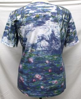 Claude Monet Water Lily Art Women T Shirt Top SS2145 XL