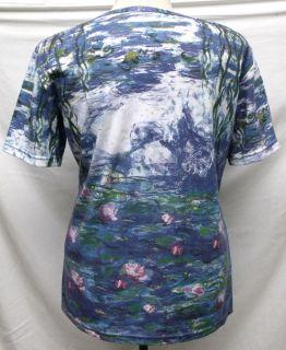 Claude Monet Water Lily Art Women T Shirt Top SS2145 XL