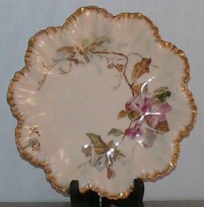 Antique Limoges Porcelain Salad Plates Early Mark Gold Gilt Elegant