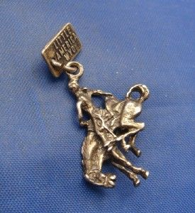 Silver Little America WYO Rodeo Bucking Horse Charm