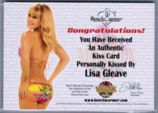LISA GLEAVE 2012 BENCHWARMER VEGAS BABY #d 15/25 GOLD FOIL LADY LUCK
