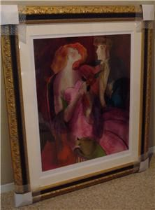 Beautifully Framed Linda Le Kinff Robe Du Soir w COA