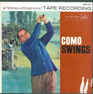 Reel to Reel Tape 2 Track RCA Perry Como Swings 7½