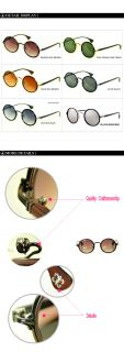 New Classisc Fashion Vintage Round LINDA FARROW LUXE Sunglasses KS633