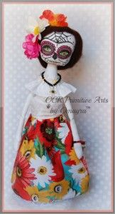 Please meet ~*~Lupe*~* Sugar Skull Art Doll. Dia de los Muertos