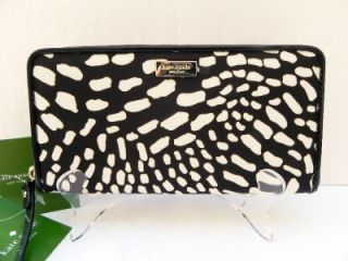NWT Kate Spade New York NEDA Lindenwood Safari Zip Around Wallet brown