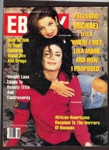 1994 Ebony RARE Magazine Michael Jackson Lisa Marie Presley