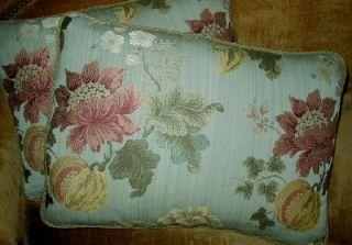 Scalamandre Floral Lampas Fabric Custom Designer Throw Pillows New 2