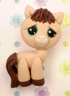 Little Pet Shop Pony Horse Charm Polymer Clay Bead