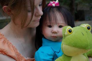 Reborn Mei Ling by Adrie Stoete OOAK Baby Girl Toddler