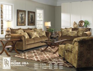 Furniture 7901 3 Piece Sofa, Loveseat and Accent Chair Living Room Set