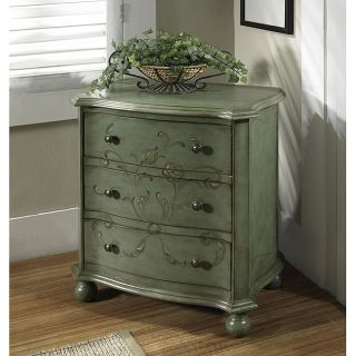 Hand Painted Distressed Aqua Blue Accent Chest